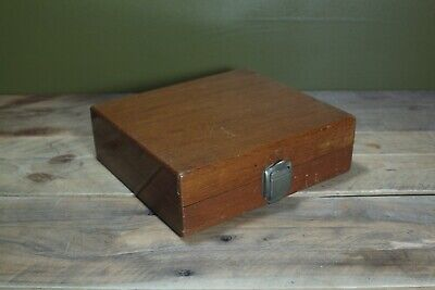 Vintage Wooden Box Terryville Lock Co USA 21x20x6cm Great Display