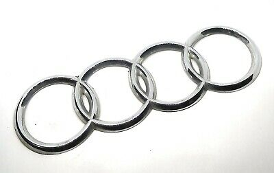 96-01 Audi A4 Rear Trunk Deck Lid Emblem Rings Badge Symbol Sign Ornament Chrome