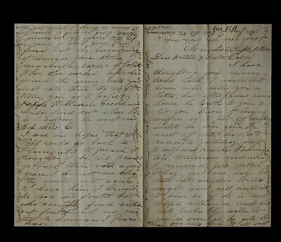 1861 MANCHESTER, NH - Civil War Letter - Wife of 2nd New ...
