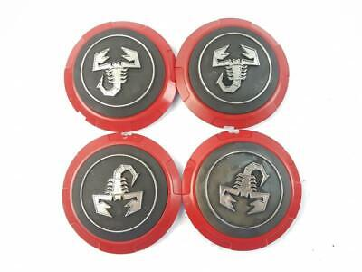 2008-2015 MK1 Fiat 500 SET OF 4 ABARTH HUB COVERS