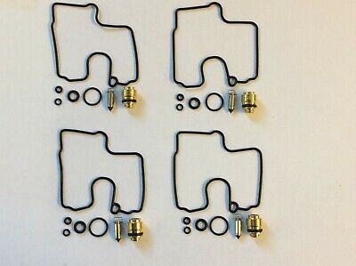 4 x Carburettor Repair Kits Gasket Valve Needle for Suzuki GSXR600 97-00 SRAD
