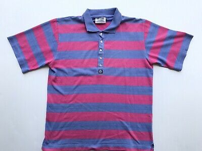 Vintage RIP CURL Mens Polo Shirt 80s Pink Purple size L
