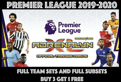 Panini Adrenalyn  Xl Premier League 2019/20 Full 18 Card Team Sets 19/20