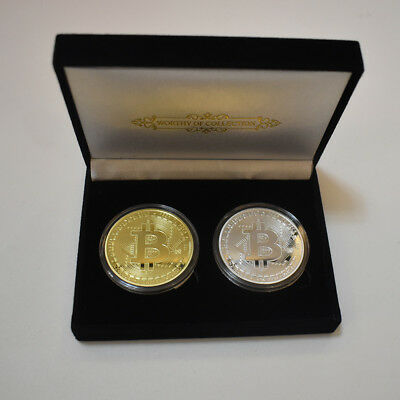 2x Rare Collectible Golden Iron Bitcoin Commemorative 2018 Best Coin BITUP Gifts
