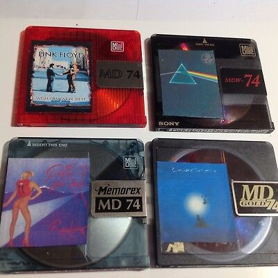 4 recordable  Minidiscs  74 minute  Great Music