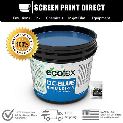 Ecotex® DC-BLUE - Graphic Dual-Cure Screen Printing Emulsion- 1 Pint 16 ounces