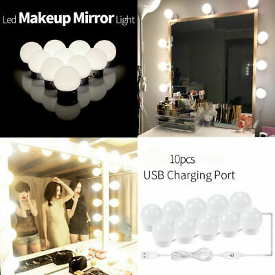 10 LED Dimmable Lights Bulb Hollywood Vanity Lights 3 Colors For Make Up Mirrors