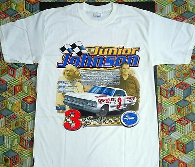 Junior Johnson Story of a Champion NASCAR T-Shirt, New Men's Size Med - XXL