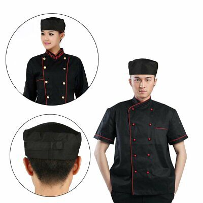 Breathable Mesh Skull Cap Professional Catering Chefs Hat with Adjustable Strap