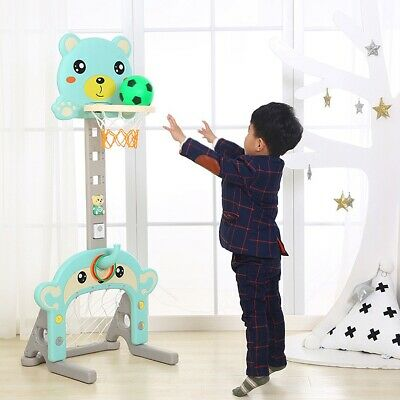 Baby Kids Bath Toy Basketball Hoop & Ball Play Set Free Standing Children Gift