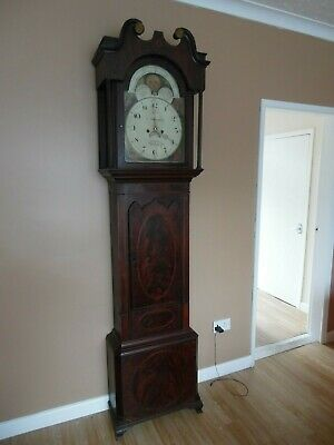 Grandfather clock moonroller mahogany