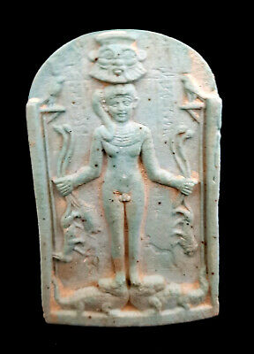 Very rare Relief Hunting scene bes above King Ramses holding lion Sekhmet Wall