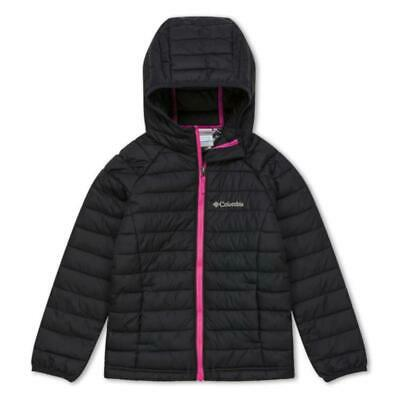 Columbia Powder Lite Girls Hooded Jacket | Black