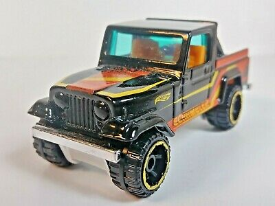 2014 Hot Wheels Hot Trucks Series JEEP Scrambler 4X4 Black Off Road 1/64 Loose