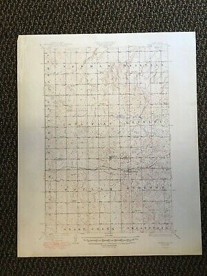 Vintage USGS Benedict Dakota 1921 Topographic Map 1950