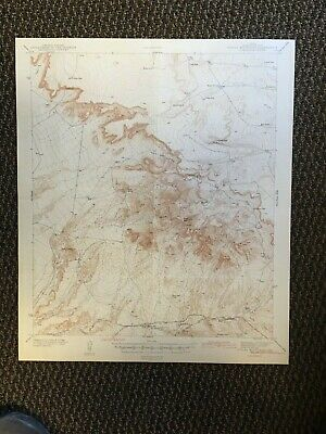 Vintage USGS Finlay Mountains Texas 1943 Topographic Map