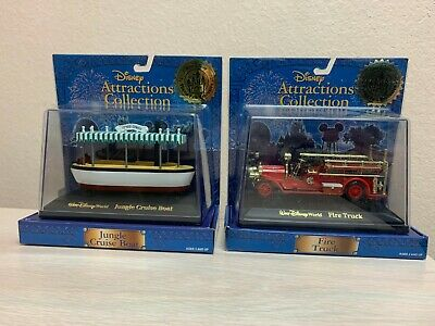 Disney Theme Park Collection Exclusive Lot FIRE TRUCK and JUNGLE CRUISE BOAT