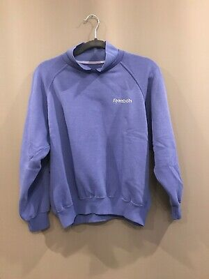 Reebok Purple Collar Vintage 1980's Sweatshirt Womens m