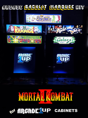 Arcade1up Mortal Kombat II Backlit Marquee Kit for Arcade1up Cabinets - Gray