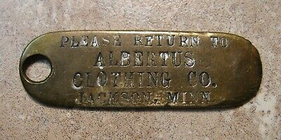 Antique Metal Charge Card Clothing Company Jackson Minn Mn Retail Store