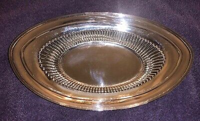 Watson Sterling Silver Bread Tray / Serving Oval Bowl - Just Gorgeous