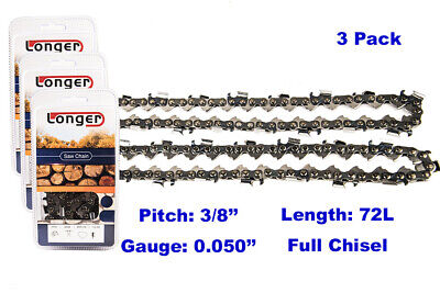 "2 2-Pack 20/"" Full Chisel Chains for Stihl MS361 MS362 MS390 MS391   72LGX072G"
