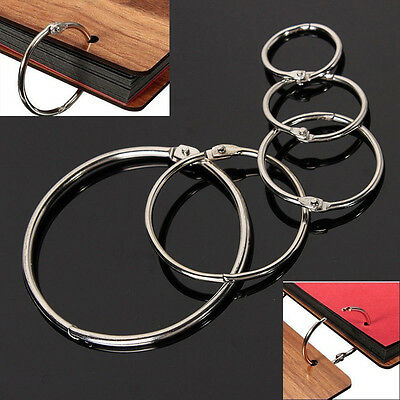 Metall scharnierte Ring Buch Binder Craft Foto Album Split Keyring Scrapbook  bD