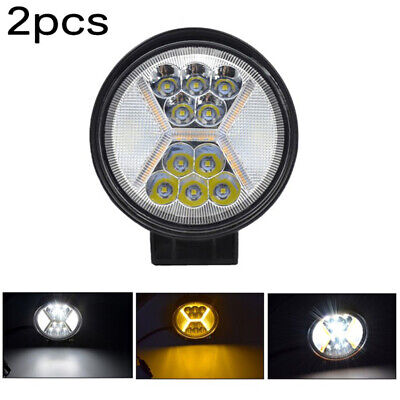 """100W Pair 4""""INCH LED Round Work Lights Spot Flood Driving Lamp For Off-road SUV"""