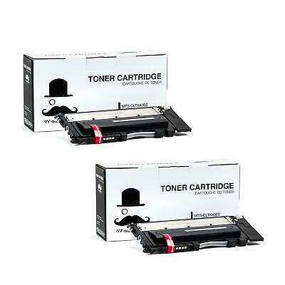 Moustache® 2PK CLT-K406S Black Toner Cartridge For Samsung CLX-3305 CLX-3305FN