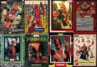 Topps Marvel Collect DEADPOOL TAKEOVER [8 CARD Non-Free Portion of the SET] $$$