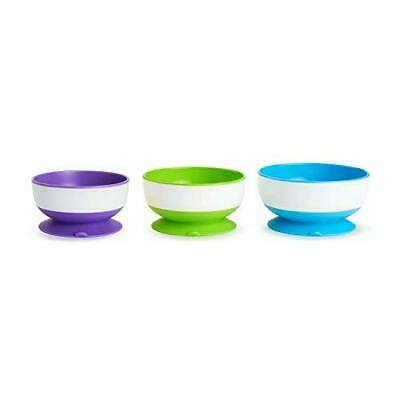 Munchkin Baby Feeding Stay Put Suction Bowls 3Pk Dishwasher Safe