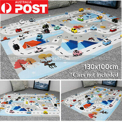 New Kids Play Mat City Road Buildings Parking Map Game Scene Educational Toys AU