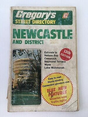 1980 Gregory's Street Directory Newcastle & Map Book 104pg + Ampol Advertisement