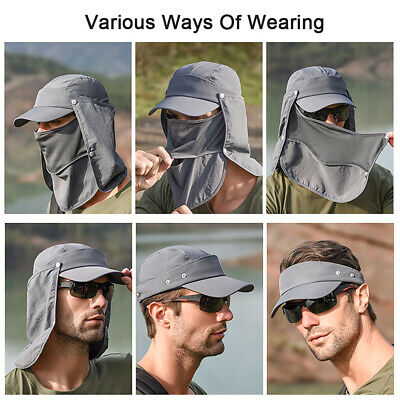Sun Cap Outdoor Sport Fishing Camping Hat UV Protection Face Neck Flap Unisex AU