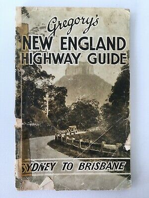 Gregory's New England Highway Guide Sydney to Brisbane 1930s/1940s (approx.)