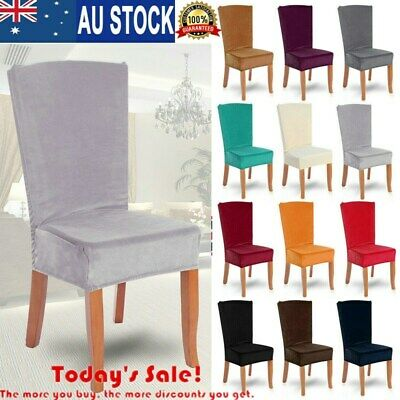 High Quality Fox Velvet Dining Chair Covers Spandex Slip Covers Stretch Wedding