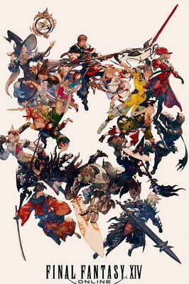 All Classes High Quality Prints Final Fantasy Xiv Online Poster