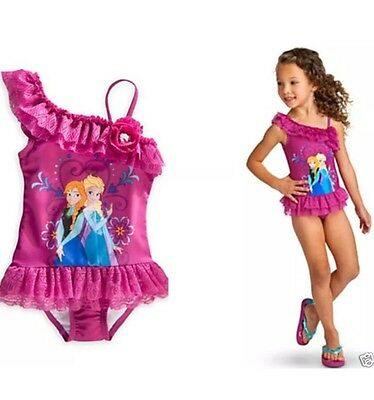 UK FROZEN GIRLS/KIDS ELSA AND ANNA SWIMMING COSTUME AGE 2-4 Years (M)