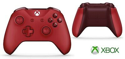 Microsoft Xbox One S Wireless Controller with Batteries - Red