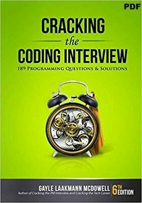 Cracking the Coding Interview 6th Edition 189 Programming questions & solns. (Ε-