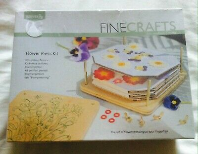 Fine Crafts Wooden Flower Press Kit by Reeves New and Sealed