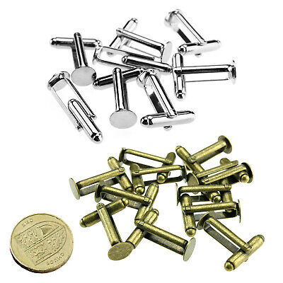50/100 Cufflink Cuff Link Blanks Base Findings Silver Plated Men Accessory