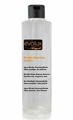Agua Micelar Desmaquillante facial, EVOLUX MICELLE CLEANSING SOLUTION 250 ml.