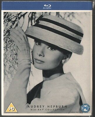Audrey Hepburn Collection BLU RAY 3-DISC UK REGION ALL SEALED