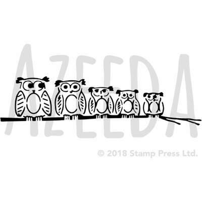 A5 'Family Of Owls' Wall Stencil / Template (WS00020864)