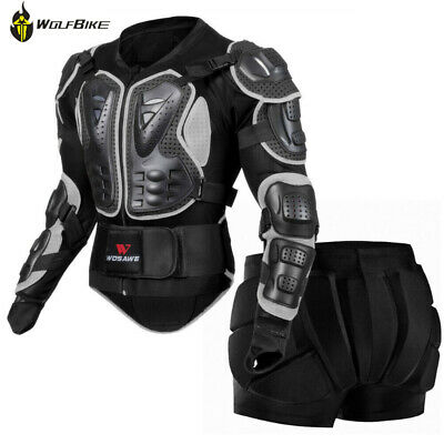 Motorcycle Armour Jacket Shorts Chest Back Protection Motorcross Body Safely