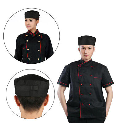 Unisex Mesh Chefs Hat Top Skull Professional Catering Cap Adjustable Breathable