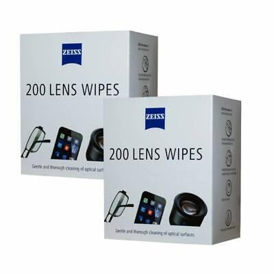 New Zeiss Lens Cleaning Wipes Pre Moist Sachet 400 Pack wipes value pack