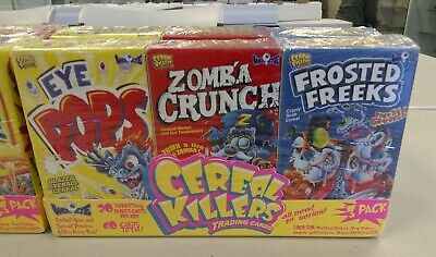 Cereal Killers 1st Series 3 box set Wax-Eye Factory Sealed Trading Cards Tattoos