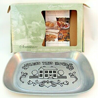 Wilton Armetale Serveware Bless this House Pewter Serving Dish